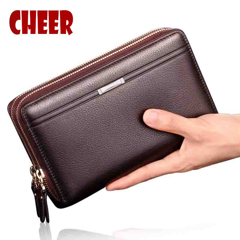 Brand Business wallet men purse Clutch luxury portfolio money <font><b>clip</b></font> coins pocket High capacity Casual Holders wallets phone bag