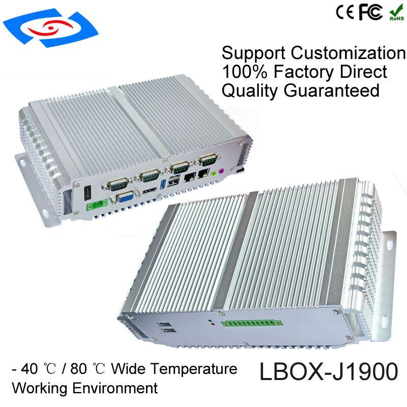 2018 neue Version Fanless Mini PC Industrielle Computer Mit 1 xVGA 1 xHDMI Display 4 xCOM Unterstützung RS232/485 /422