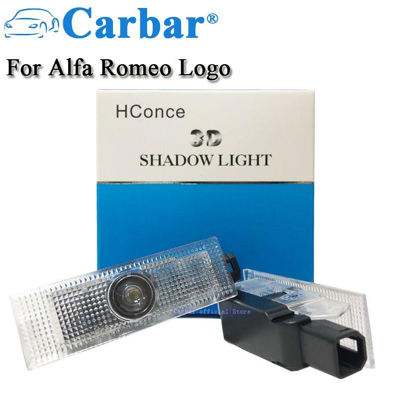 LED Door Courtesy Logo Light For Alfa Romeo 159 147 Car LED Door Courtesy Logo Light Shadow Laser Projector LED Welcome Lights