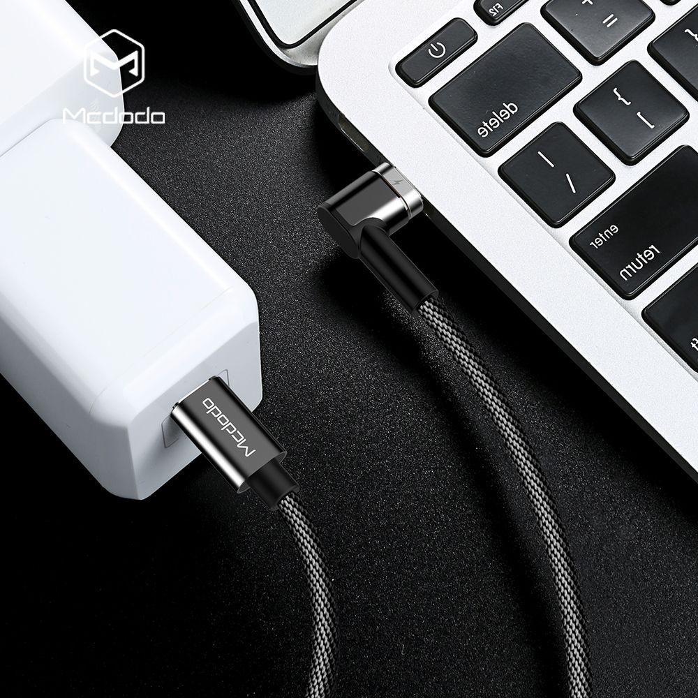 MCDODO usb c à usb-c câble 4.5A 87 w PD Type c à Type-c Mâle Pour samsung S9 Commutateur Macbook Data sync usb magnétique Chargeur câble