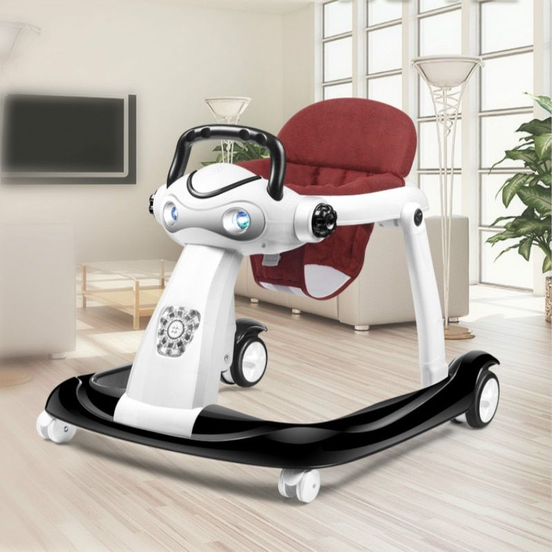 New Fashion Multifunction Folding Adjustable Baby Walker Boys and Girls Step Hand push Sit Chair Walker Baby Assistant For 6-18M