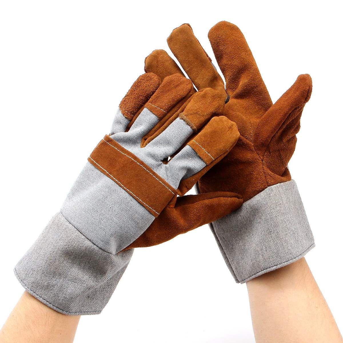 Schweißen SCHWEIßER Arbeiten Weiche Rindsleder Plus Handschuhe Für schützende hand schutzhandschuhe