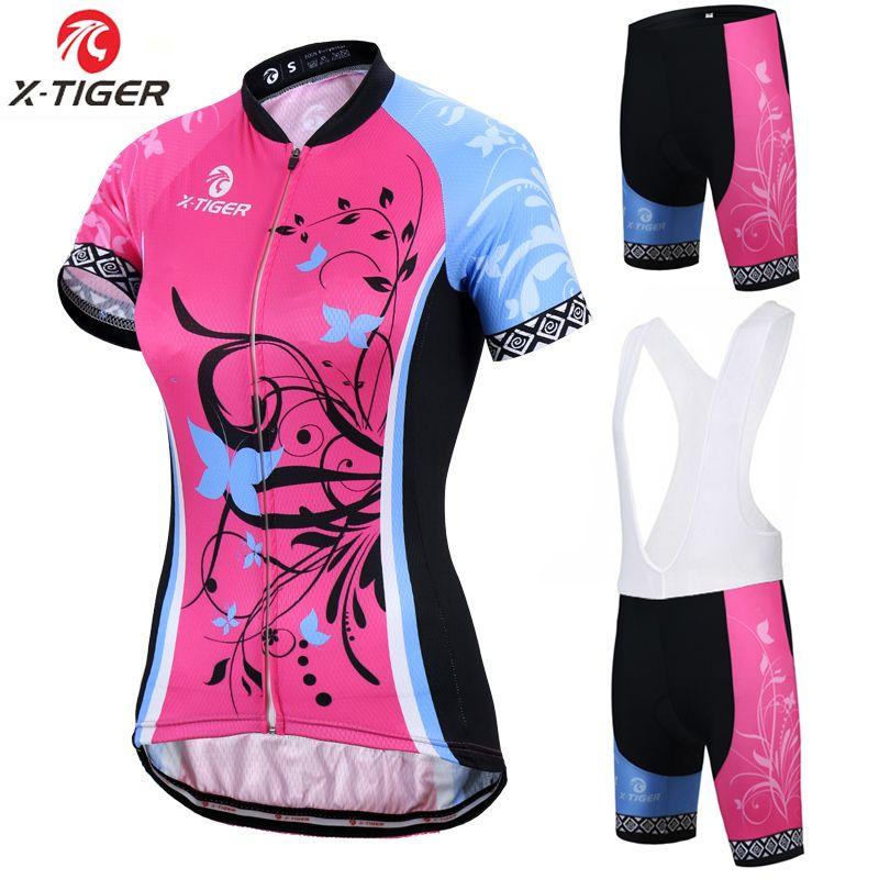X-tiger manches courtes femmes maillots de cyclisme ensemble respirant VTT vêtements femmes vélo cyclisme vêtements Ropa Ciclismo