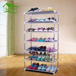 Zapatero bricolaje montado plástico de múltiples capas Zapatos almacenamiento organizador soporte mantener la habitación limpia puerta ahorro de espacio