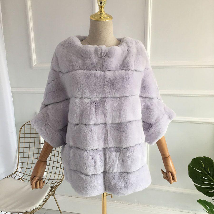 2018 New Real Chinchilla Rex Rabbit Fur Coat 100% Genui Various Colors Thick Warm Short Real Rex Rabbit Fur Warm Fur Jacket