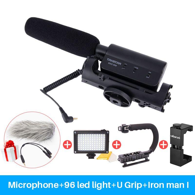 Takstar SGC-598 Photography Interview Shotgun MIC Microphone for Nikon Canon DSLR Camera DV Camcorder for Vloggers/Videomaker