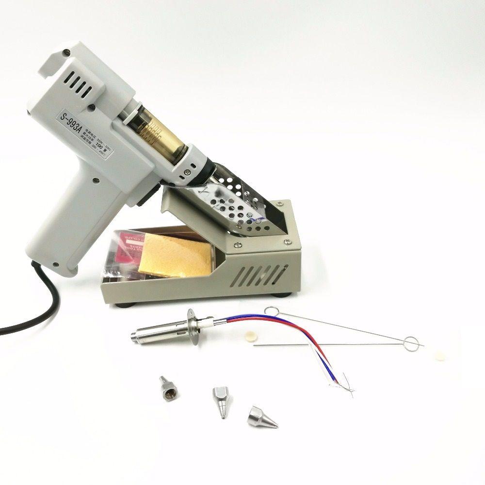 110 v/220 v Entlöten Gun Elektro absorbieren pistole S-993A Elektrische Vakuum Entlötpumpe Solder Sucker Gun 100 W