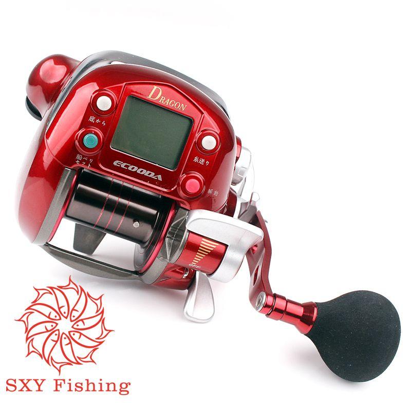 FREE SHIPPING Electric Count Wheel Trolling Fishing Reel 7000 Series 7 Shaft Fishing Force 30kg Electric fishing wheel Digital