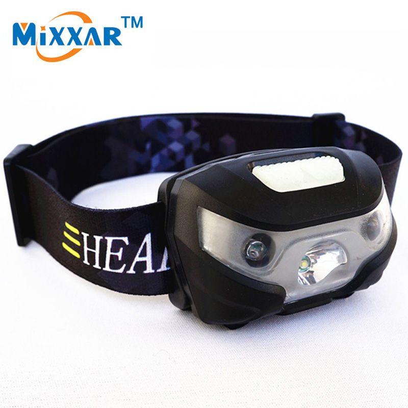 NZK20 Mini Rechargeable LED Phare 3000Lm Body Motion Sensor Phare Camping Lampe De Poche Tête Lumière Torche Lampe Avec USB