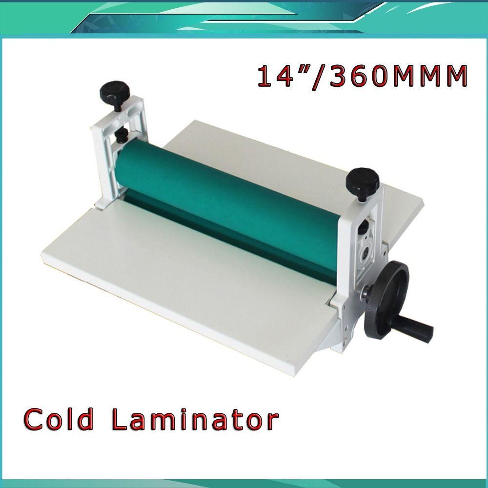 Kostenloser Versand Brand NEW 14 350mm Manuelle Laminiermaschine Foto Vinyl Schützen Gummi Kalten Laminator