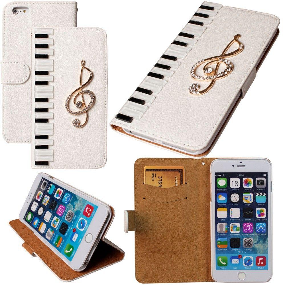 Dot Me Piano Musical Diamant En Cuir Cas Pour iPhone X 8 7 6 Plus 5 5C 4 Samsung Galaxy S9/8/7/6 Bord Plus S5/4/3 Note 8 5 4 3