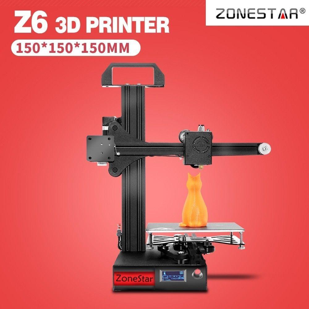 ZONESTAR Student der Mini 3D Drucker 1,75mm 0,4mm Düse Filament 3D Drucker DIY Kit Voll Metall Aluminium Rahmen 3d drucker