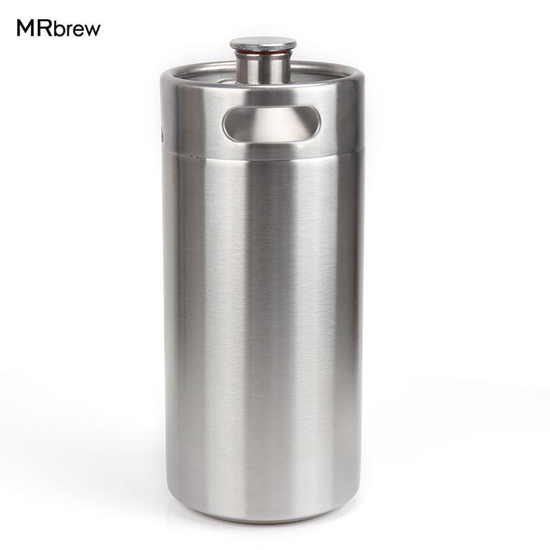 128 oz 3.6L En Acier Inoxydable Growler-Haute Qualité 1 Gallon Mini Fût Style Growler Incassable Homebrew pour la bière bar