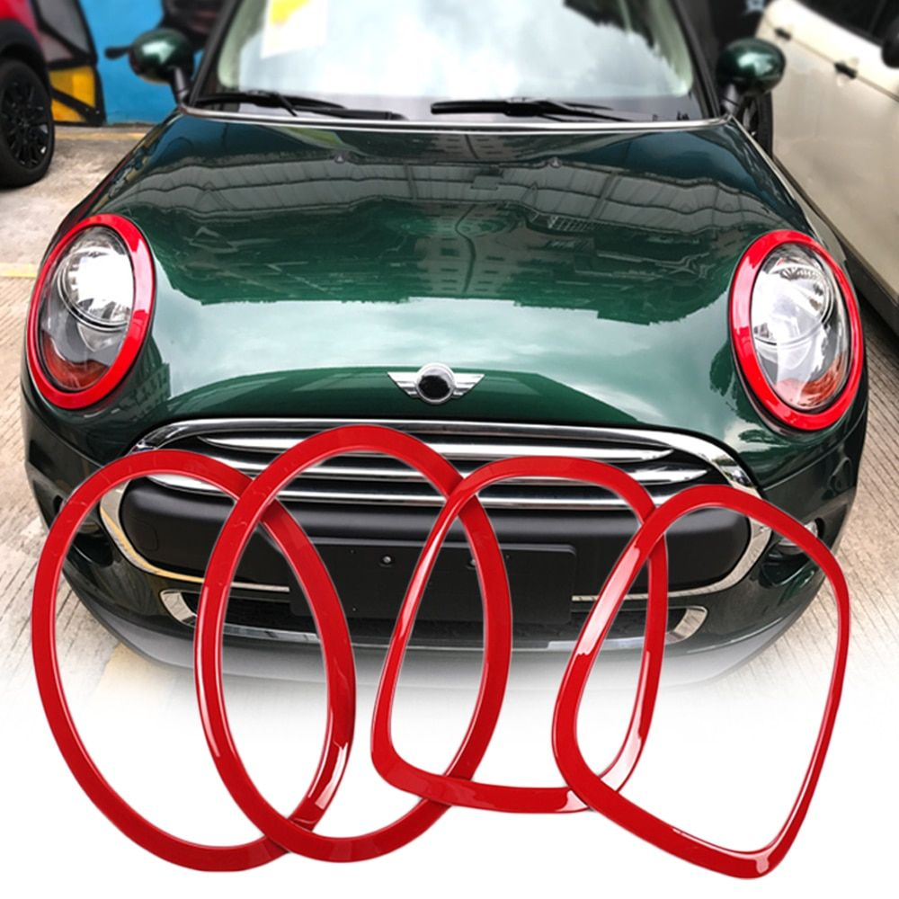 Car Headlight Head Tail Rear Lamps Trim Ring Covers Decoration Stickers For Mini Cooper One JCW F55 F56 Car-styling Accessories