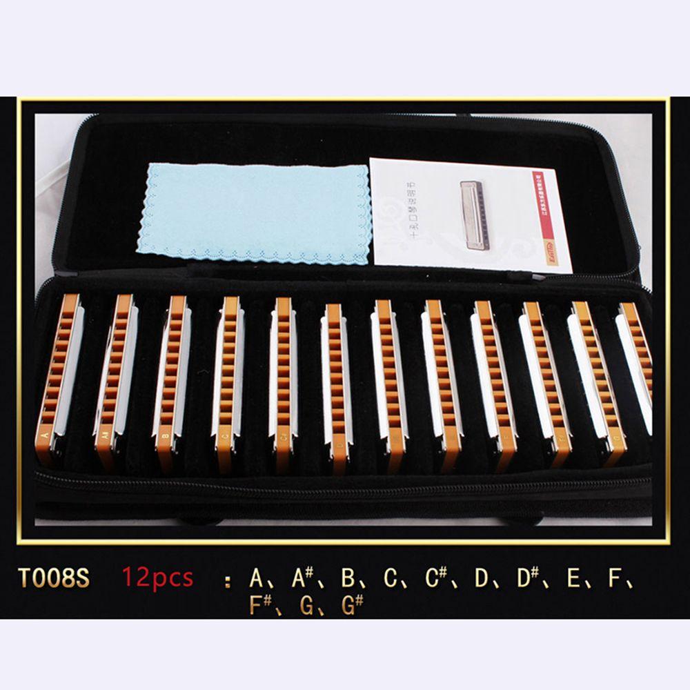 Easttop Diatonic Harmonica 10 Hole Mouth Organ Instrumentos Harmonica 7 12 Key Blues Harp Musical Instruments East top T008S 008