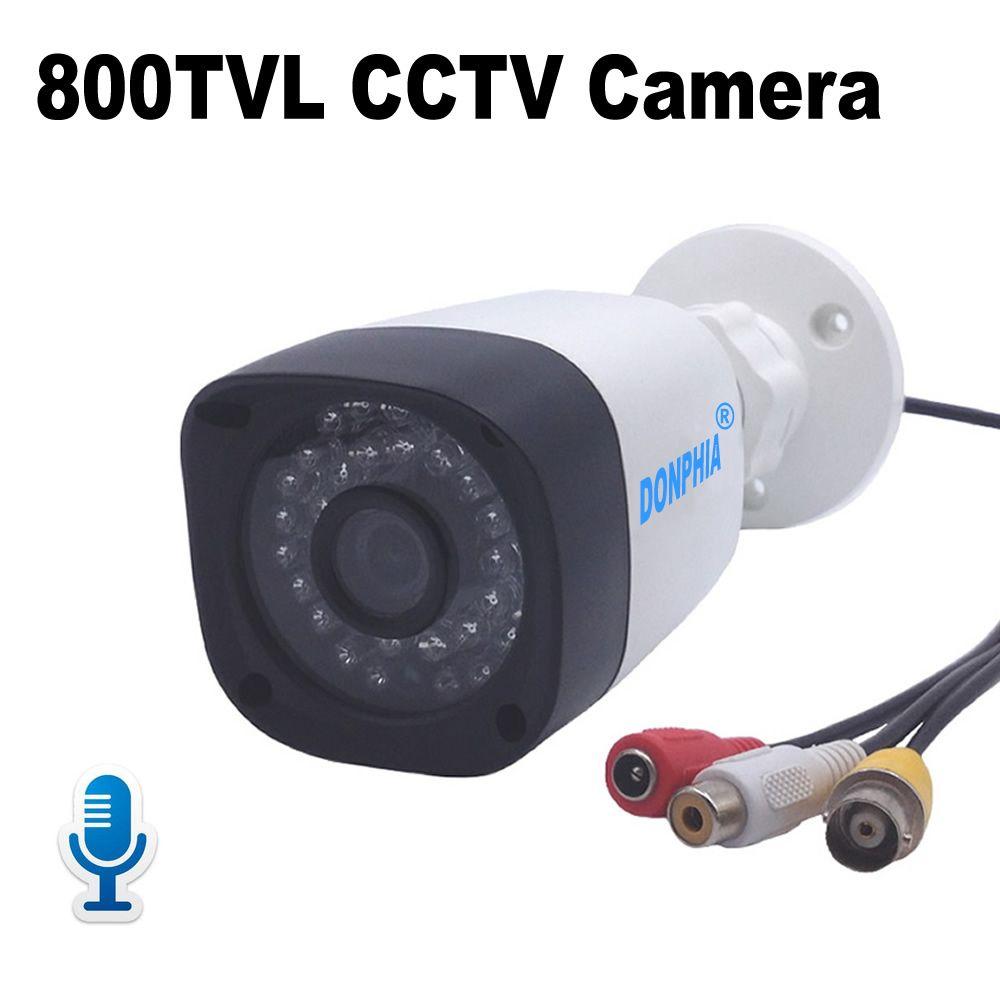 Caméra de vidéosurveillance Audio 800TVL avec Microphone étanche moniteur vocal et vidéo caméra de Surveillance IR Vision nocturne sécurité vidéo
