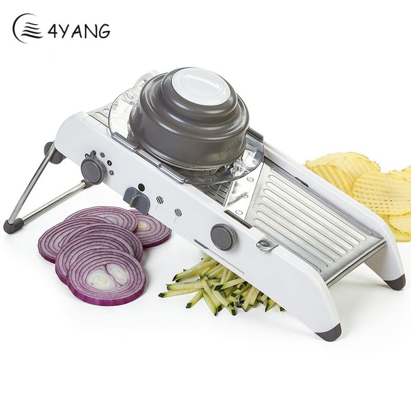 4YANG Mandoline Slicer Manual Vegetable Cutter Professional Grater with 304 Stainless Steel Blades Vegetable Cutter Kitchen Tool