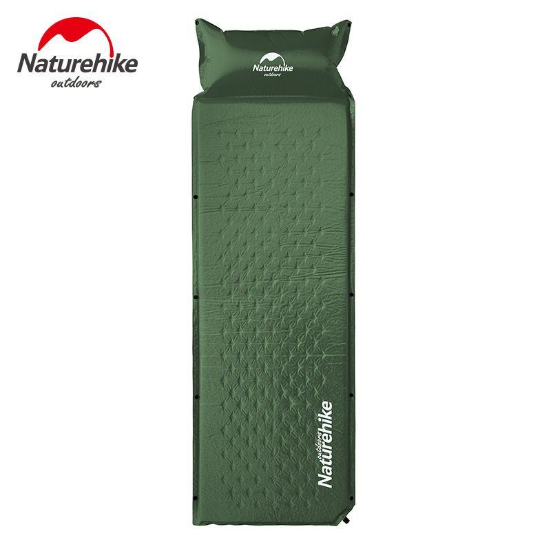 Naturehike Self Inflatable Sleeping Mat Mattress With Pillow Self-Inflating Sleeping Pad Foldable Bed Camping Tent Single Mat