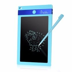 Christmas Gift Digital Ewriter Electronic Drawing pad 8.5 Inch Portable One Key erasable LCD Writing Tablet (Blue)