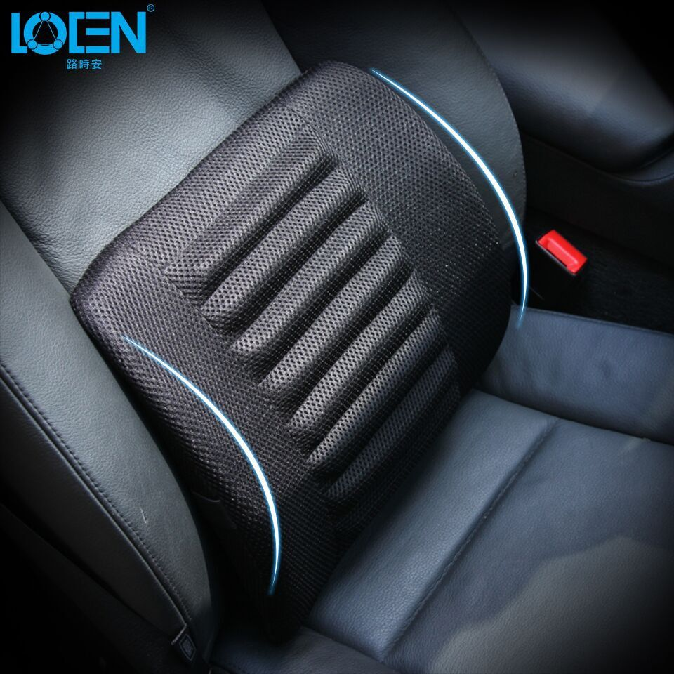 Universal Mesh Black Car Seat Back Cushion Lumbar Support Waist Cushions Cotton Seat Cover <font><b>Office</b></font> Home Auto Interior Accessories