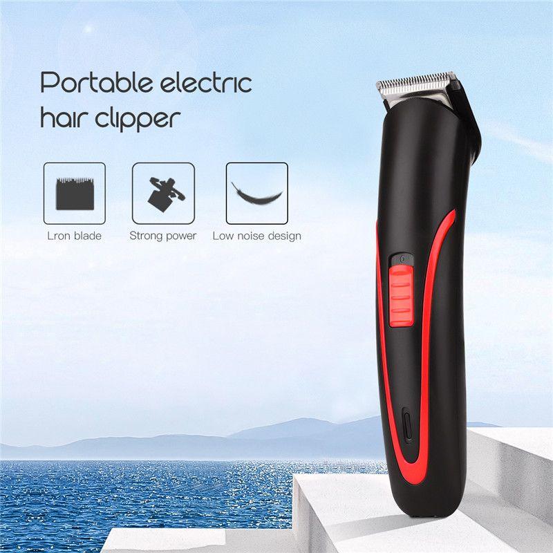Portable Rechargeable Tondeuse Électrique Sans Fil Mini Tondeuse Pro Cheveux De Coupe Machine Barbe Trimère Pour Hommes Barber 4041