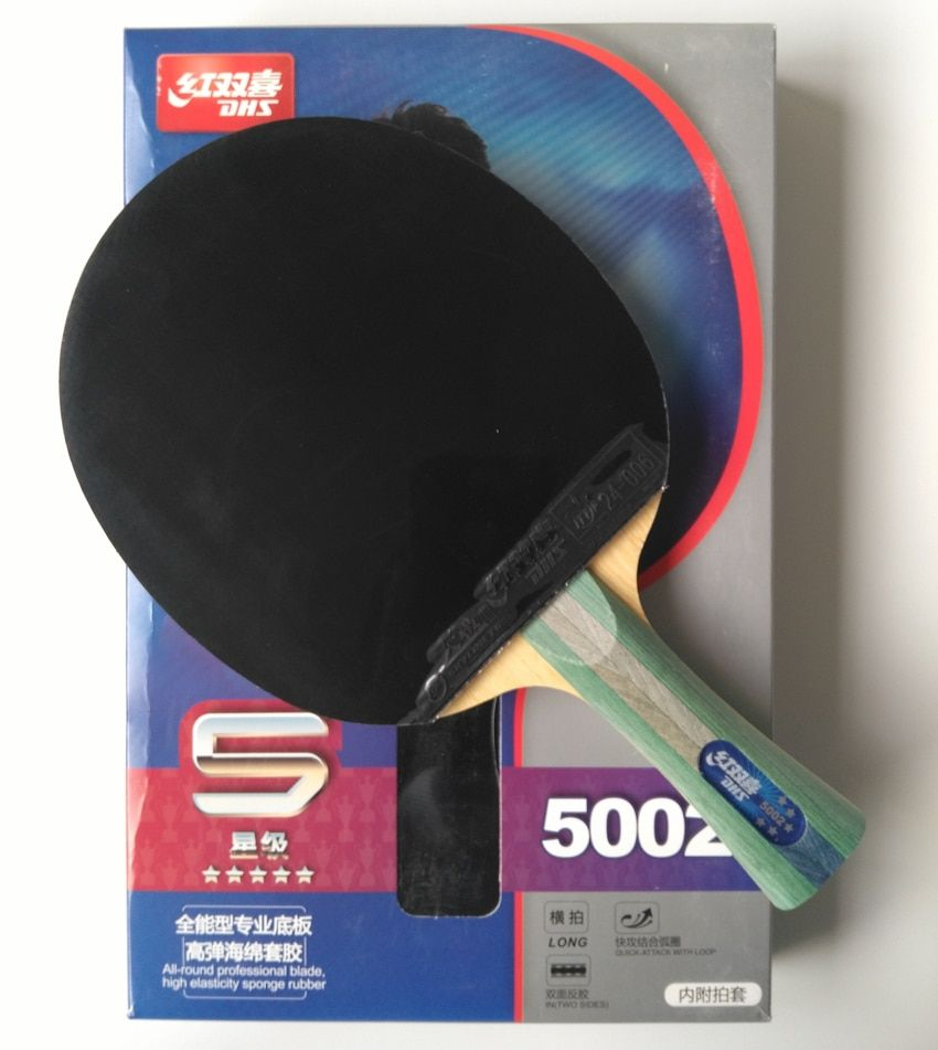 Original DHS 5002 finished racket FL long handle table tennis racket 5 stars factory made racket Table Tennis Ping Pong Racket