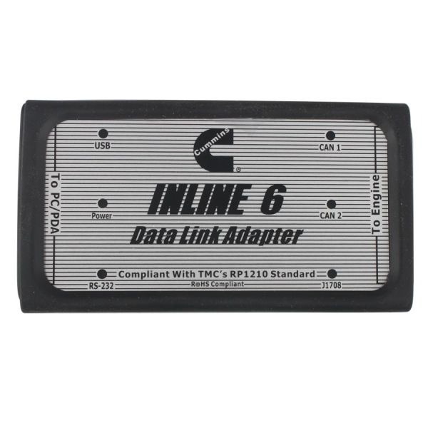 for Cummins INLINE 6 Data Link Adapter Insite v7.62 Data Link Adaptor for Cummins OBD2 Truck Scanner Heavy Duty Diagnostic Tool