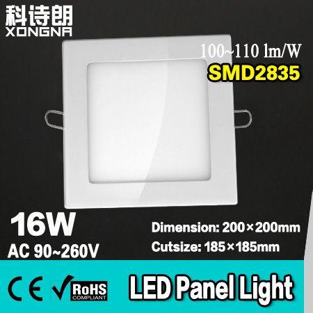 AC85~265V 16W LED Panel Lights With SMD2835 100~110lm/W Warm White(3000~3200K) Cold White(6000~6500K)