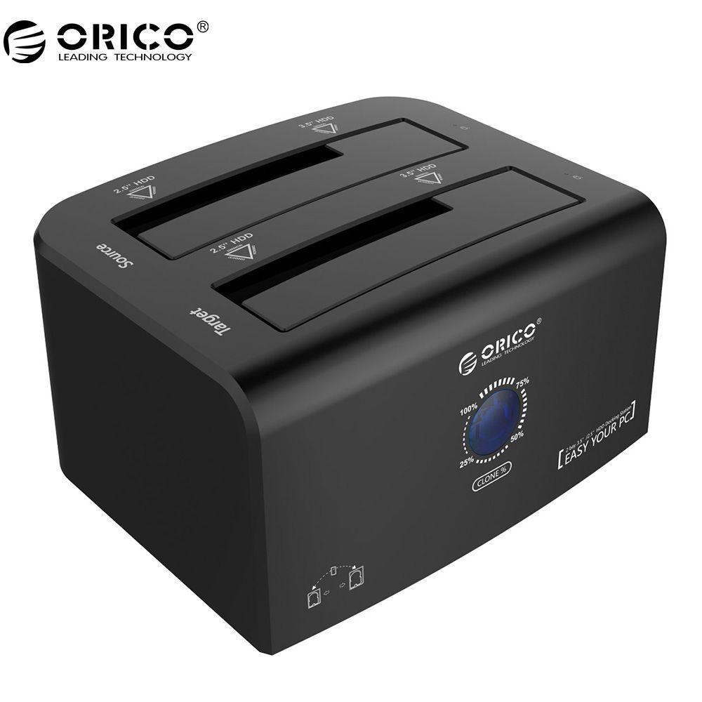 ORICO 2,5 & 3,5 zoll USB3.0 & eSATA Externe Festplatte Dock mit 1 bis 1 Klon Hdd Docking Station-Schwarz (8628SUS3-C)