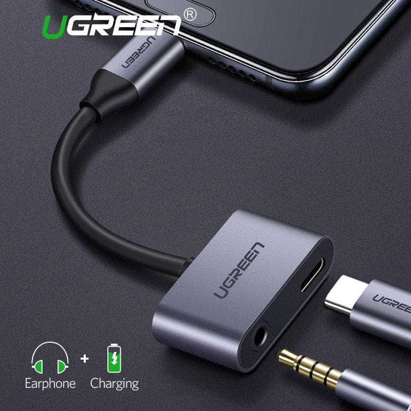 Ugreen USB C to Jack 3.5 Type C Cable Adapter For Huawei P20 Pro Xiaomi Mi 6 8 Note3 Mix USB Type C 3.5mm AUX Earphone Converter