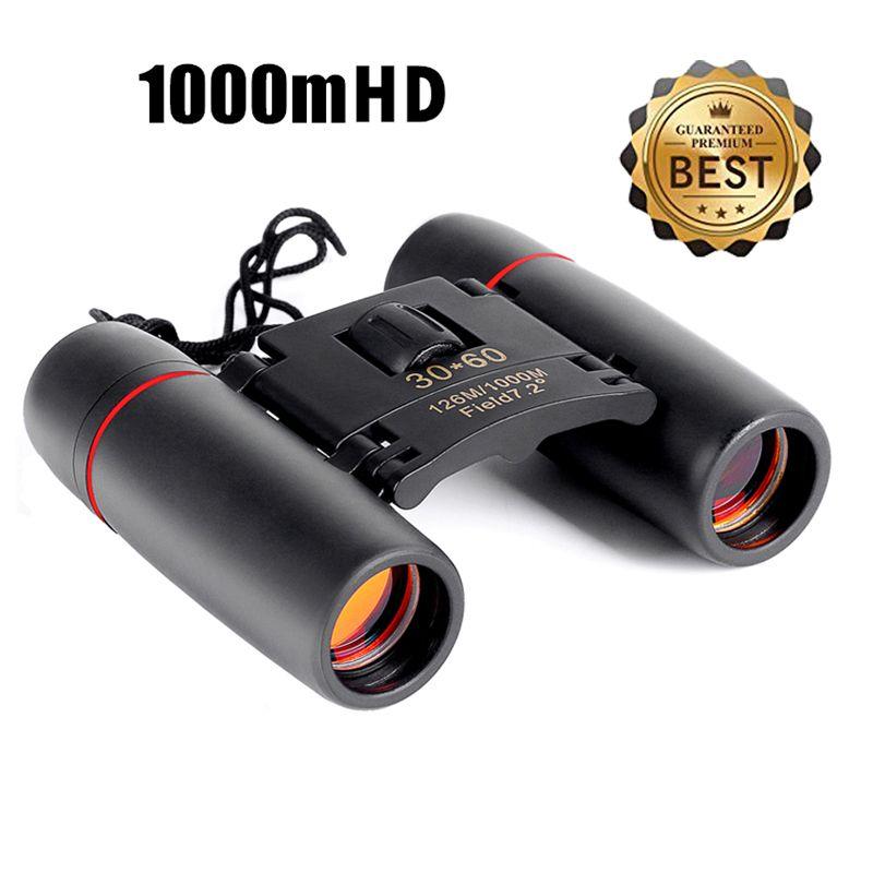 Télescope à zoom 30x60 Pliant Jumelles avec Faible Lumière vision nocturne pour en plein air observation des oiseaux voyager chasse camping 1000 m