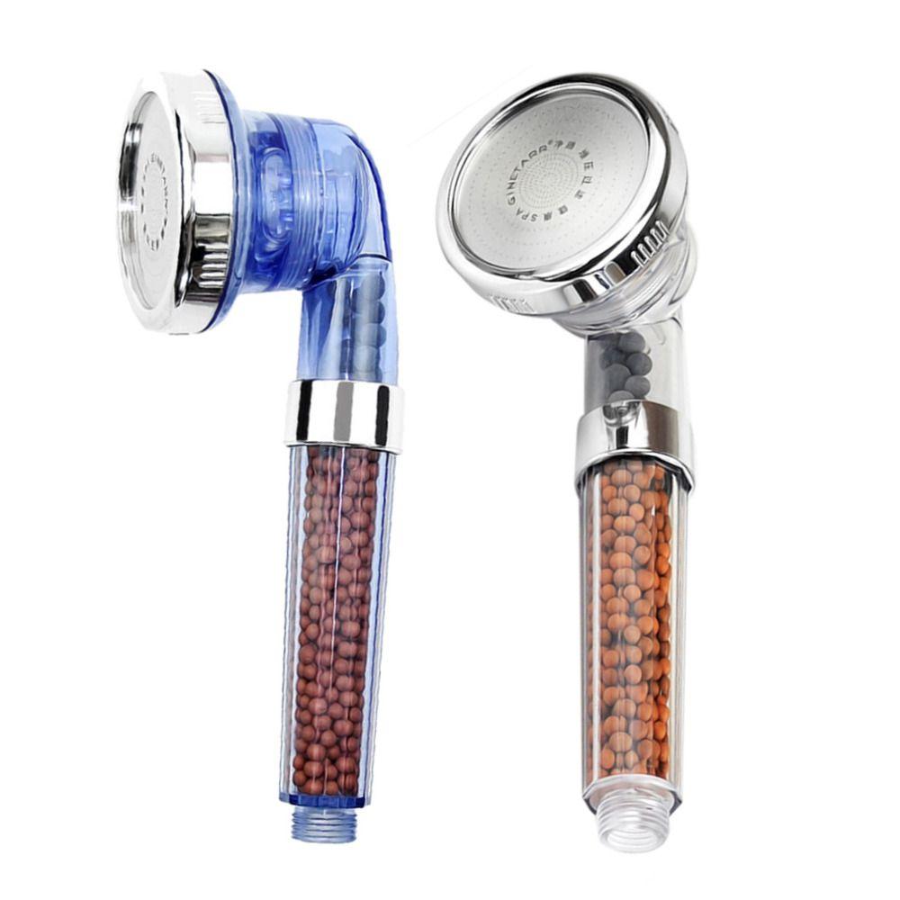 Tête de douche réglable filtrée par SPA d'ion négatif sain avec le tuyau de douche trois Mode de douche livraison directe négative de pomme de douche de SPA de Lon
