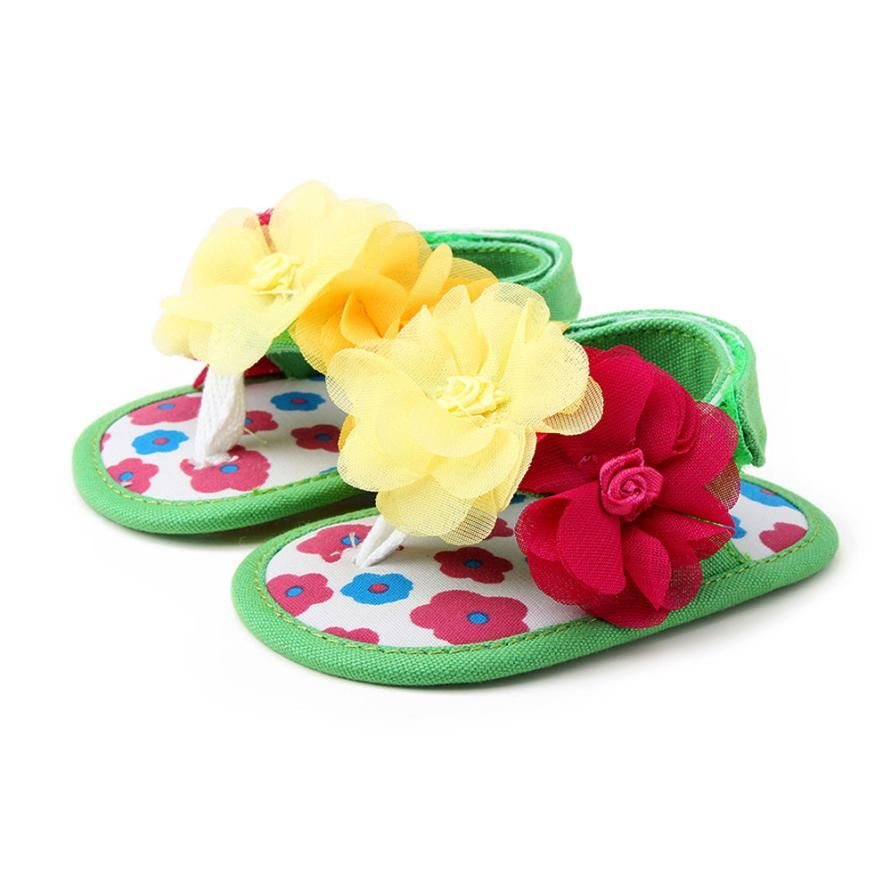 New Arrival Newborn Baby Girls Princess Fashion Flower  Toddler Princess First Walkers Girls Kid Shoes Lowest Price