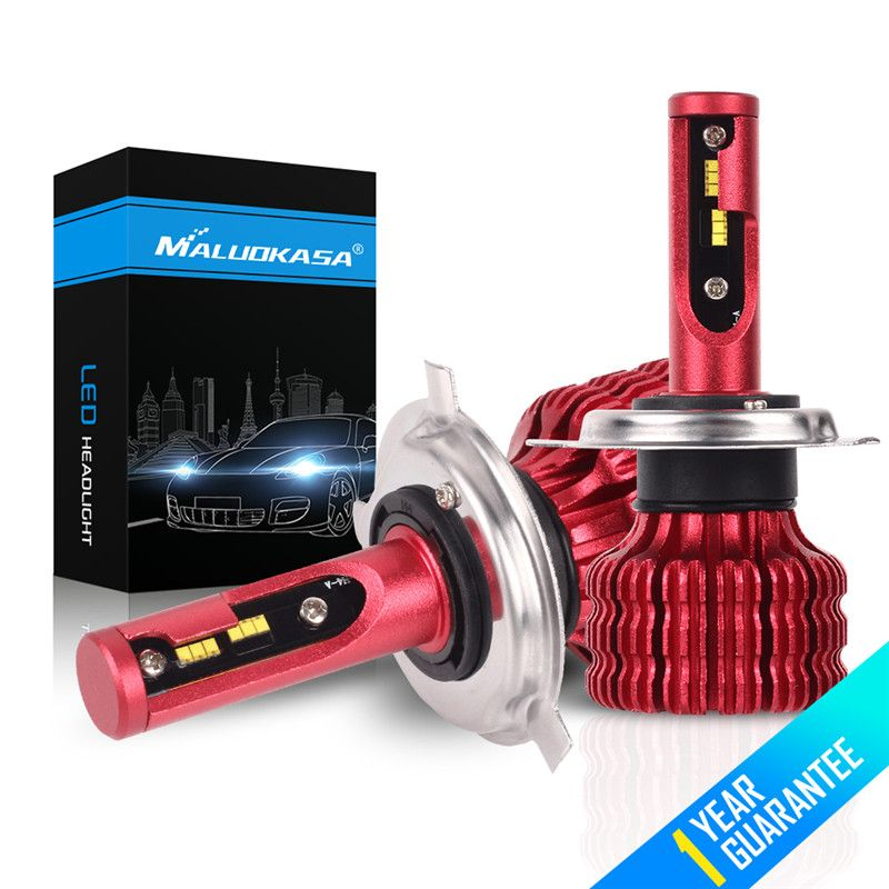 MALUOKASA H7 H4 ZES Chip 2X LED Headlight Bulb 20000LM 100W Canbus H1 H3 H11 H8 HB4 fog Light 12V 24V Hi-Lo Headlamp Car Styling