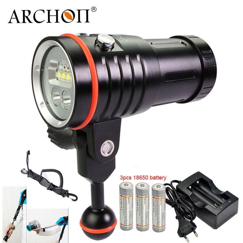 ARCHON D35VP-II UPDATE D35VP W41VP Unterwasser Fotografieren Licht Unterwasser Tauchen Fashlight Video Taschenlampe