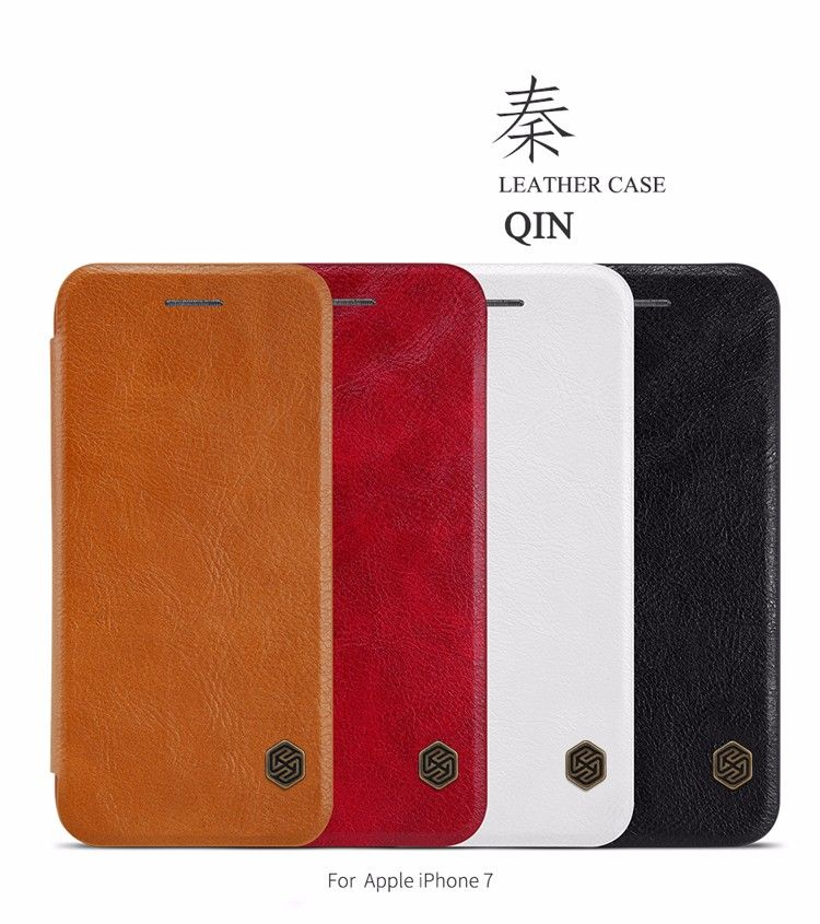 Pour Apple iphone 7 Cas NILLKIN Qin Série Portefeuille Flip Couverture pour iphone 7 plus Véritable Flip En Cuir Cas mobile téléphone cas