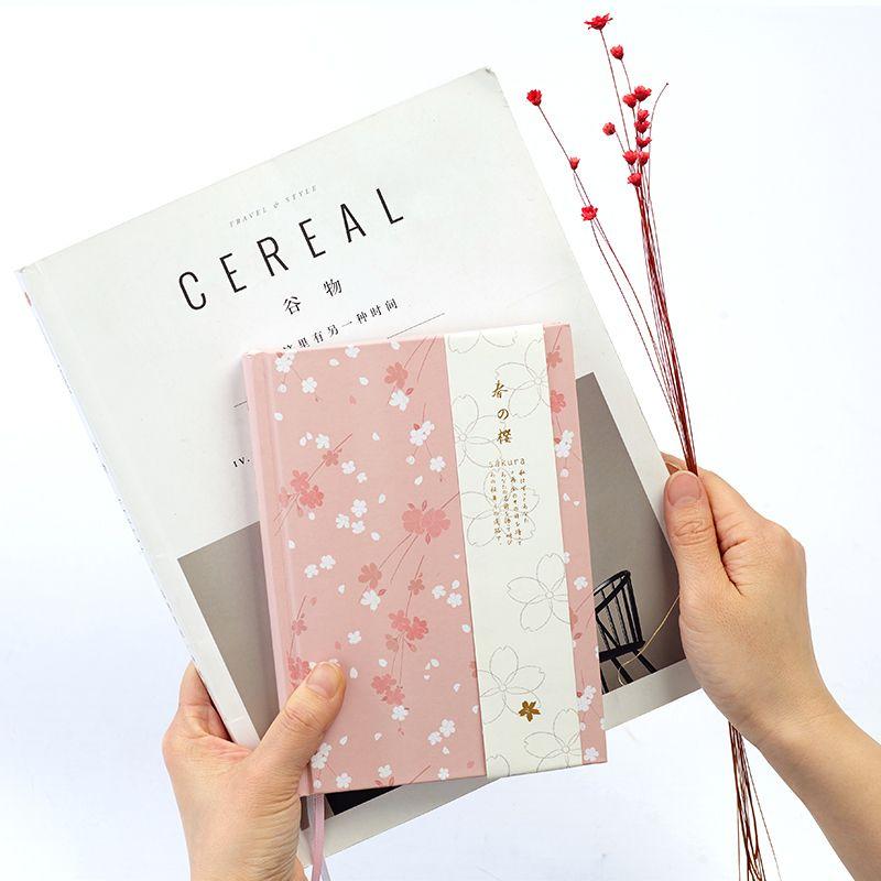 Japonais Kawaii Mignon Sakura Fleur Planificateur Laitiers Mensuel Hebdomadaire Plan Coloré Blanc Ligne Grille De Points Page 2019 Calendrier Portable A5