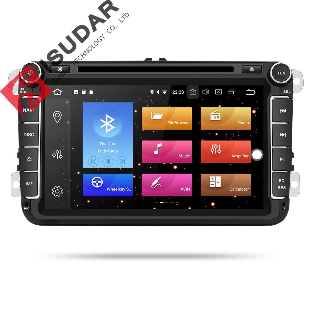 Isudar Auto Multimedia player Android 9 GPS 2 Din Auto Radio Audio Auto Für VW/Volkswagen/POLO/PASSAT /Golf 8 Cores RAM 4G USB DVR