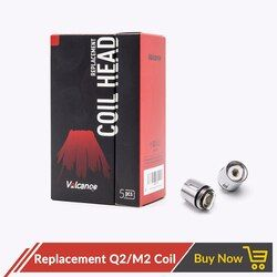 Volcanee 5 Pcs Penggantian Coil Q2 M2 0.4ohm 0.15ohm Vaper untuk TFV8 Bayi TFV8 Bayi Besar Tangki Core Rokok atomizer Vape Kumparan
