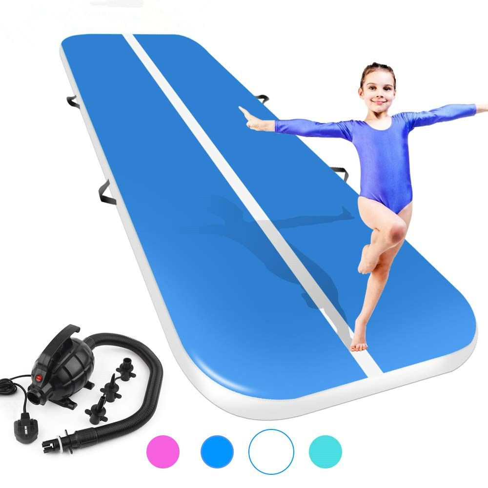 (4M5M6M)*2M*0.2M Inflatable Gymnastics AirTrack Tumbling Air Track Floor Trampoline for Home Use/Training/Cheerleading/Beach