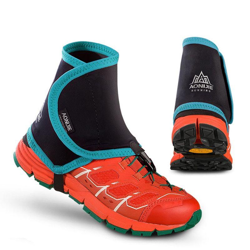 Aonijie guêtres de course à pied basses paire de couvre-chaussures de protection pour hommes femmes en plein air prévenir la pierre de sable