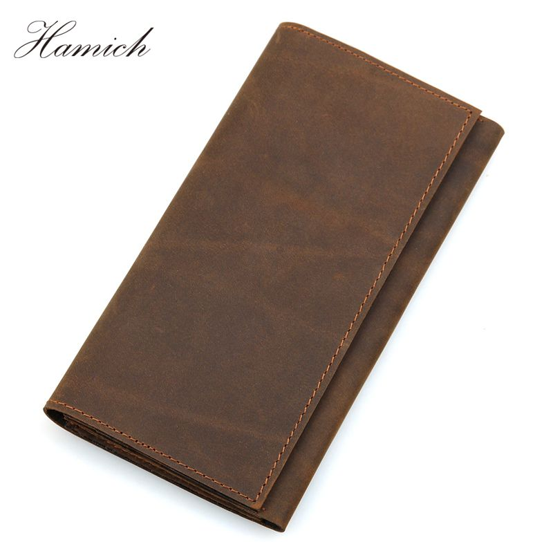 Hamich Genuine Leather Passport Holder Wallets Man Cowhide Passport Cover Purse Male Credit&Id Car Wallet Portefeuille Homme