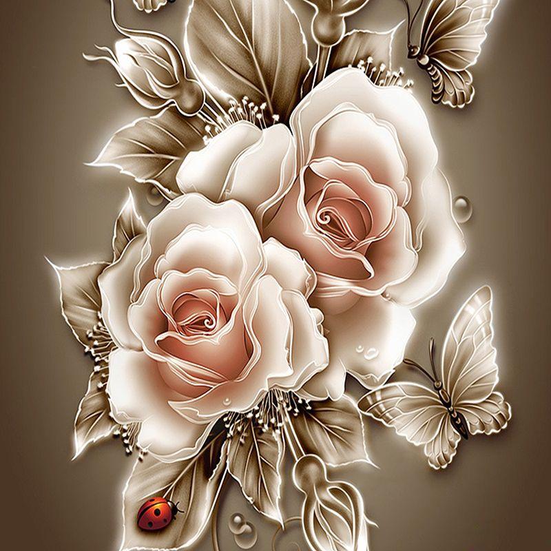 Rhinestone painting crystal Home Decor DIY Diamond painting Rose &butterfly 3D cross stitch pattern diamond embroidery zx