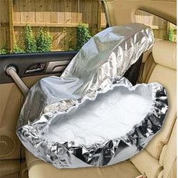 Plata aluminio película 80x70 cm bebé Kids seguridad del coche Sun Shade UV Rays Protector Cover Reflector