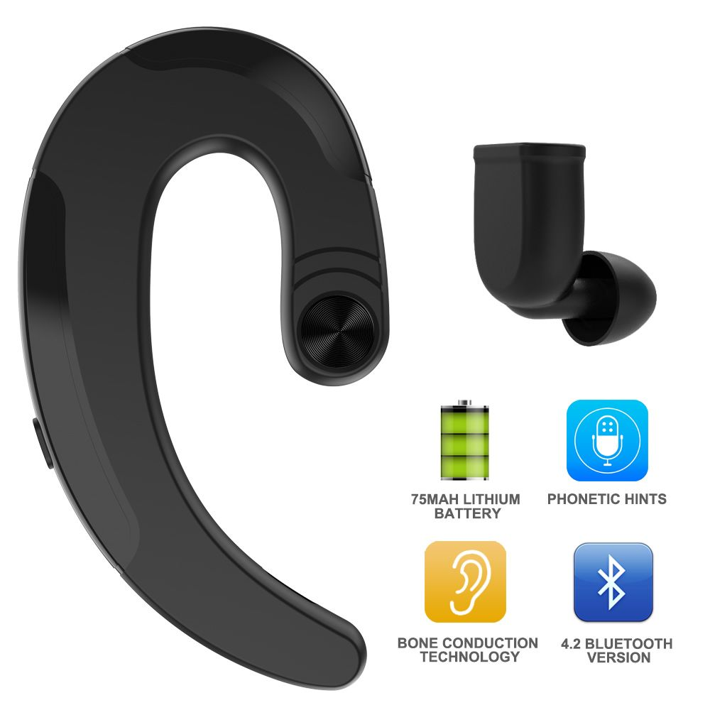 Bone Conduction Bluetooth Headphone Earphones Wireless Handsfree Earphone With Mic Earbuds Sports Headset for Xiaomi For iPhone
