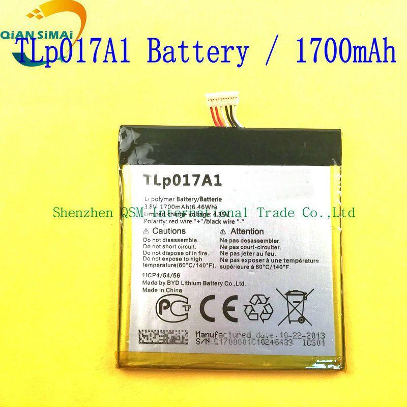 QiAN SiMAi  high quality TLp017A1 TLp017A2  battery For  ALCATEL one touch idol mini OT6012 6012A 6012W 6012E 6012D S530T