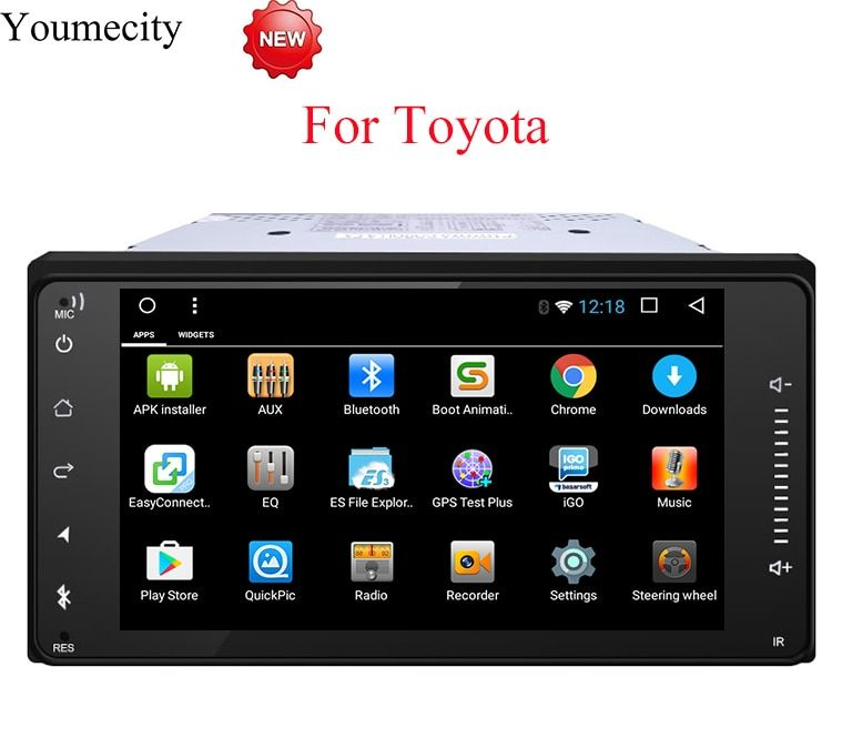 Youmecity Android 8.1 2 DIN Corolla RAV4 Camry Car DVD GPS for Toyota Terios Yaris Old fortuner radio wifi Capacitive 1024*600
