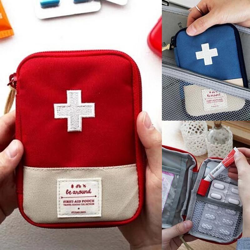 1 шт. Портативный Открытый путешествия аптечка медицина сумка Главная Малый Спецодежда медицинская Box аварийного выживания pill случае RP10
