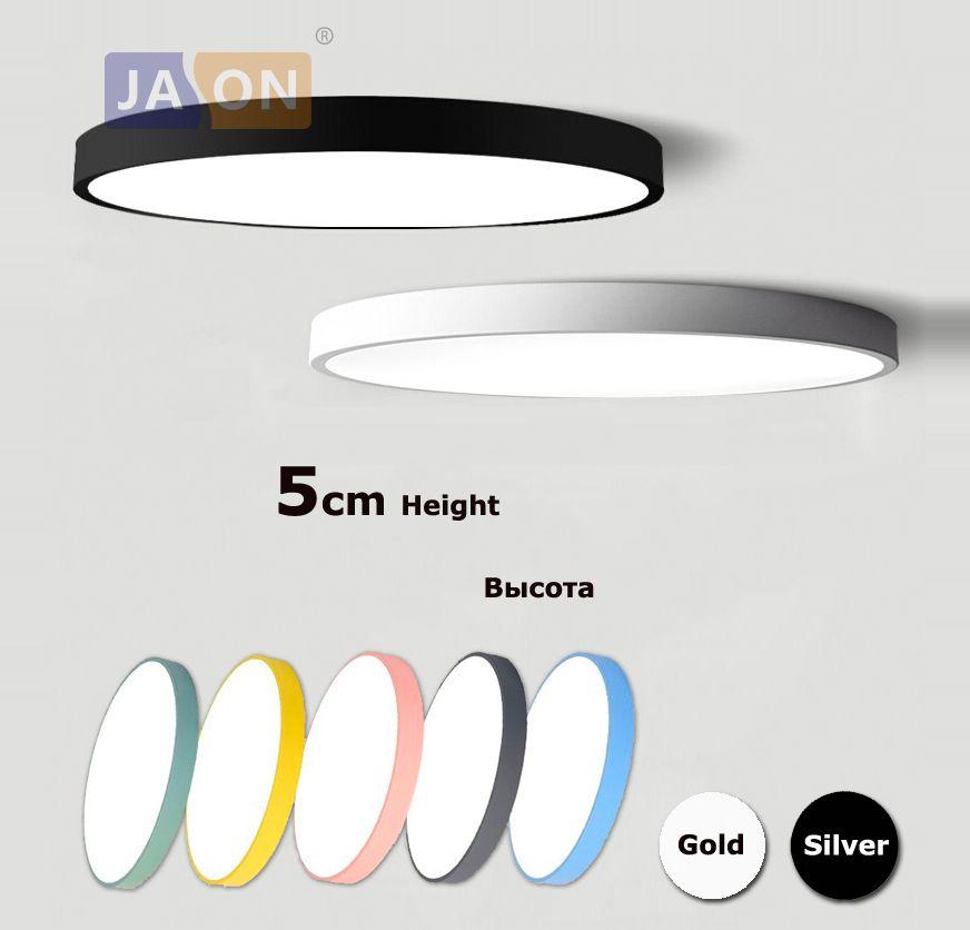 LED alliage acrylique moderne rond 5 cm Super mince lampe à LED. lumière LED. plafonniers. LED plafonnier. plafonnier pour Foyer chambre