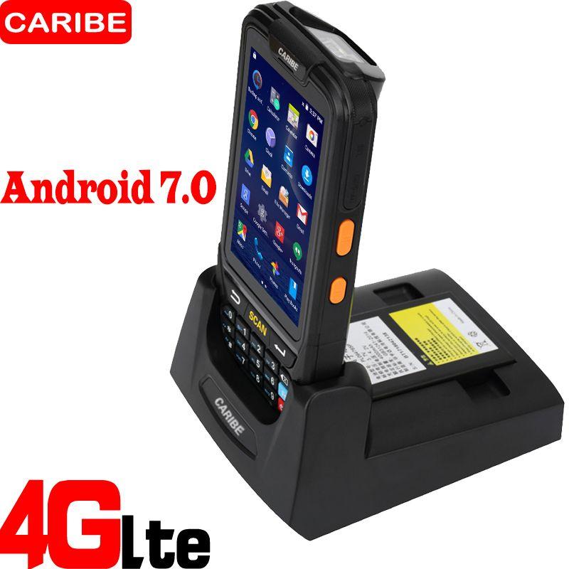 Caribe PL-40L Portable Android terminal de données sans fil de haute qualité 2d qr code scanner de codes à barres de téléphone